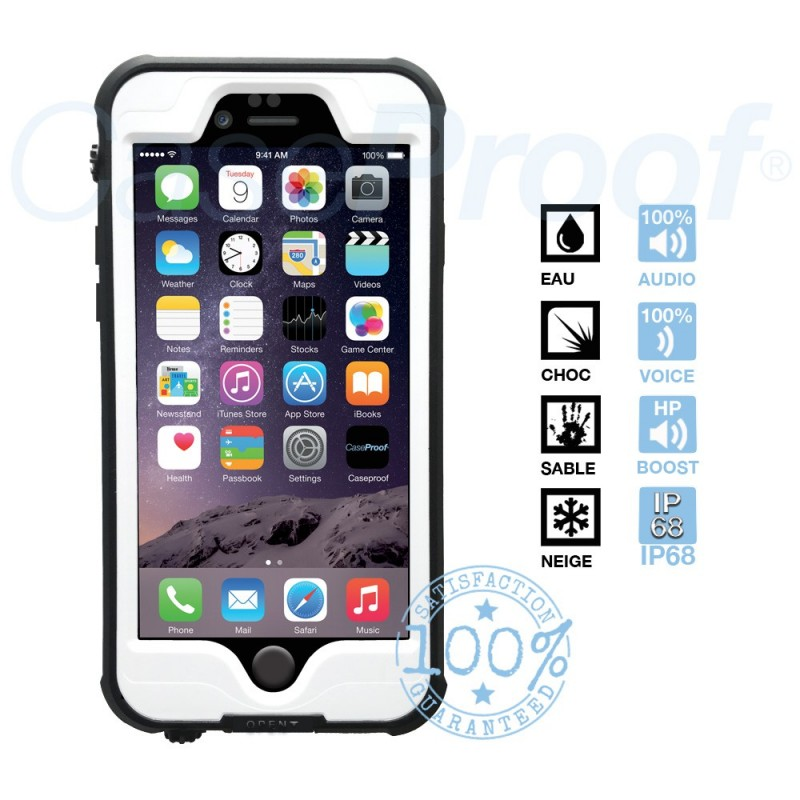 coque pro iphone 6 6s etanche et anti choc blanche caseproof nautistore. Black Bedroom Furniture Sets. Home Design Ideas