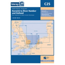 Carte Imray C25 Angleterre / Pays Bas: Harwich to River Humber and Holland