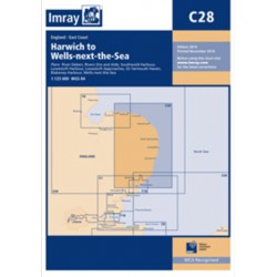 Carte Imray C28 Angleterre Côte Est: Harwich to Wells-next-the-sea