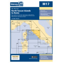 Carte Imray M17 Italie: North Tuscan Islands to Rome / de l'île d'Elbe à Rome