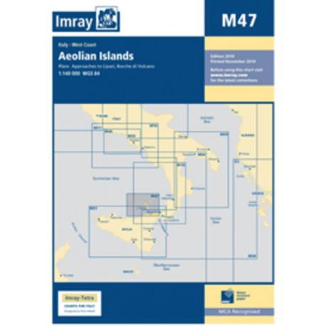 Carte Imray M47 Sicile: Aeolian Islands / Iles Eoliennes / Lipari