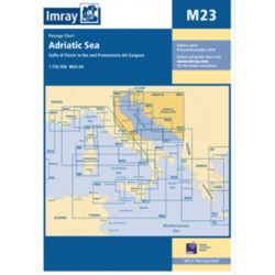 Carte Imray M23 Adriatic Sea / Mer Adriatique