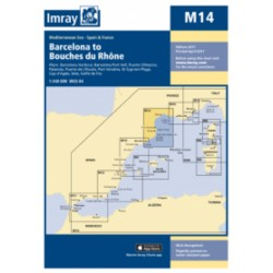 Carte Imray M14 Barcelona to Bouches du Rhône / Golfe du Lion