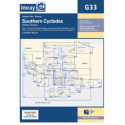 Carte Imray G33 Grèce: Southern Cyclades (West sheet / partie Ouest)