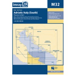 Carte Imray M32 Adriatic Italy South / Côte adriatique d'Italie partie Sud