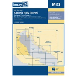 Carte Imray M33 Adriatic Italy North / Côte adriatique d'Italie partie Nord