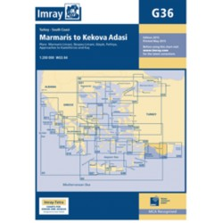 Carte Imray G36 Turquie: Marmaris to Geyikova Adasi South Coast of Turkey