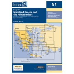 Carte Imray G1 Grèce: Mainland Greece and the Peloponnisos / Mer Ionienne et Péloponnèse