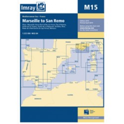 Carte Imray M15 France / Italie: Marseille to San Remo