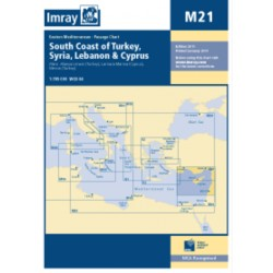Carte Imray M21 South Coast of Turkey, Syria, Lebanon & Cyprus / Turquie, Syrie, Liban, Chypre