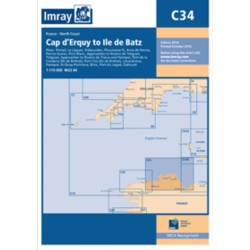 Carte Imray C34 Cap d'Erquy to Ile de Batz