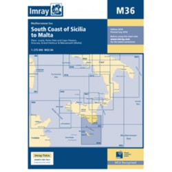 Carte Imray M36 Italie : South Coast of Sicilia to Malta