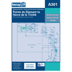 Carte Imray A301 Caraïbes : Martinique- South and East Coasts