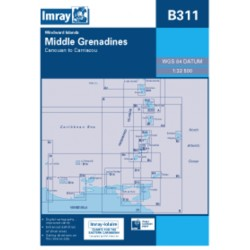 Carte Imray B311 Caraïbes : Middle Grenadines
