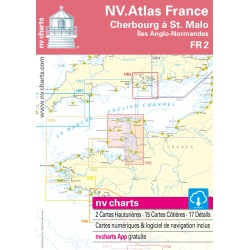 Carte NV Charts France 2 Cherbourg à St. Malo
