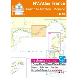 Carte NV Charts France FR 10 - Toulon to Menton - Monaco