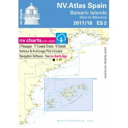 Carte NV Charts Espagne ES 2 - Balearic Islands - Ibiza to Menorca