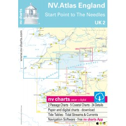 Carte NV Charts Angleterre UK 2 England Start Point to the Needles