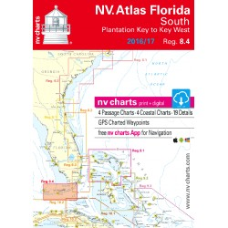 Carte NV Charts Côte Est Etat-Unis Reg. 8.4 Florida, South, Plantation Key to Key West + Guide du Port