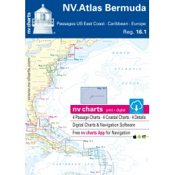 Carte NV Charts Bermuda Islands Reg. 16.1 Bermuda Islands, Passages US East Coast, Caribbean, Europe