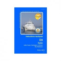 Instructions nautiques SHOM D3-INA Italie-Iles Maltaises