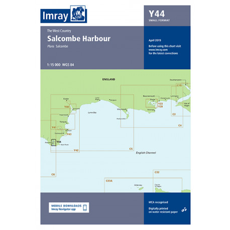 Carte Imray Y44 Salcombe