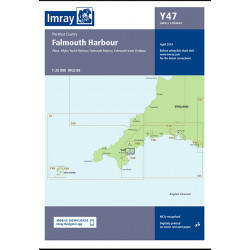 Carte Imray Y47 Falmouth Harbour