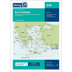 Carte Imray G40 Turquie: Kas to Antalya